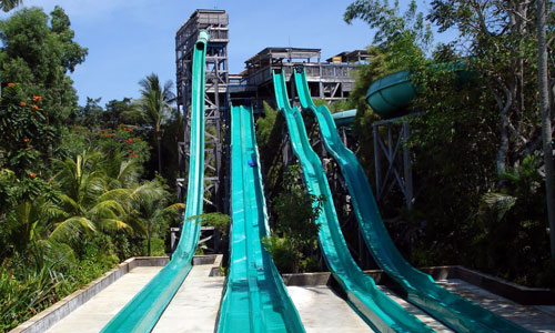 Waterslides at Waterbom Park