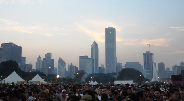Lollapalooza and the Chicago Skyline