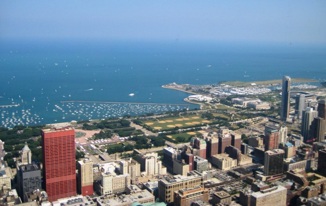 View of Lake Michigan from the Willis Tower