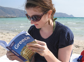 Reading a Lonely Planet Book