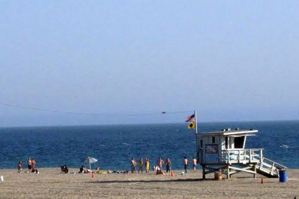 Lifeguard Tower at Malibu Beach