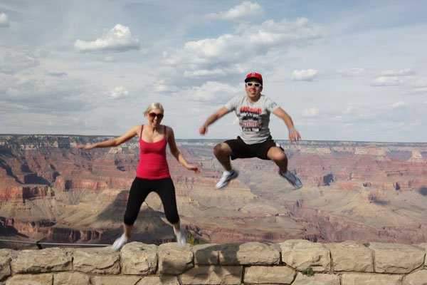 Jumping photo at the Grand Canyon