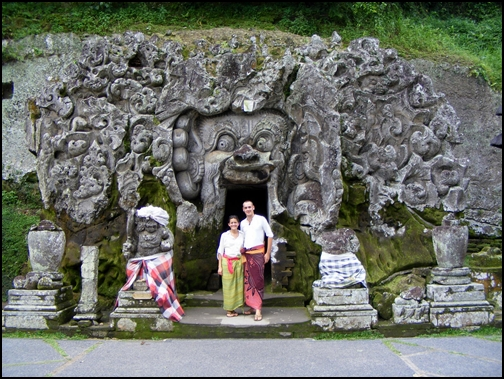 In front of the Elephant Temple Cave, Bali