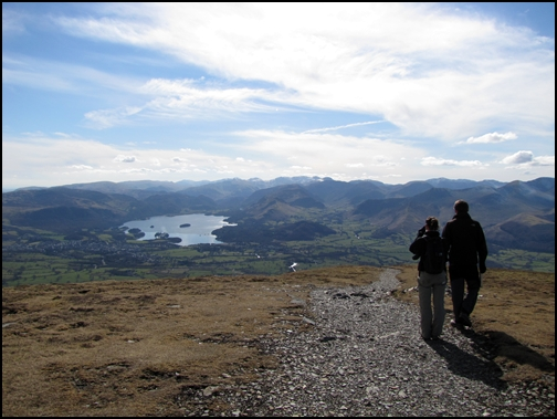 Hiking up Skiddaw in the Lake District, UK