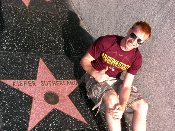 Me at my hero (Jack Bauer) star on the walk of fame in LA