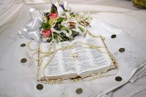 Bouquet and Bible