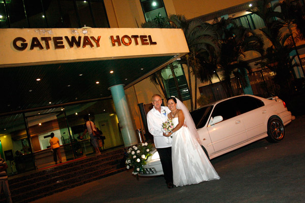 Entering the Gateway Hotel