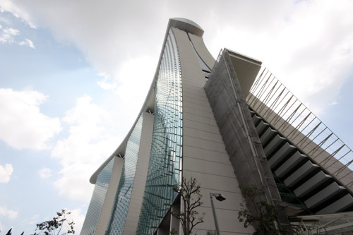 Marina Bay Sands from below