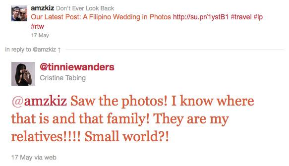 Cristinas Tweet to Us