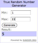 Winner - Random Number