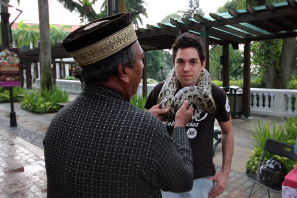 Saying Yes to Handling a Snake