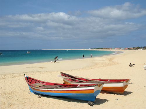 Santa Maria Beach at Cape Verde - Sal Island