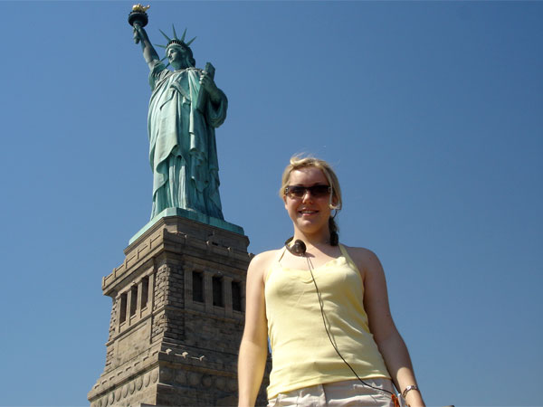 New York - A younger Julia enjoying the Big Apple