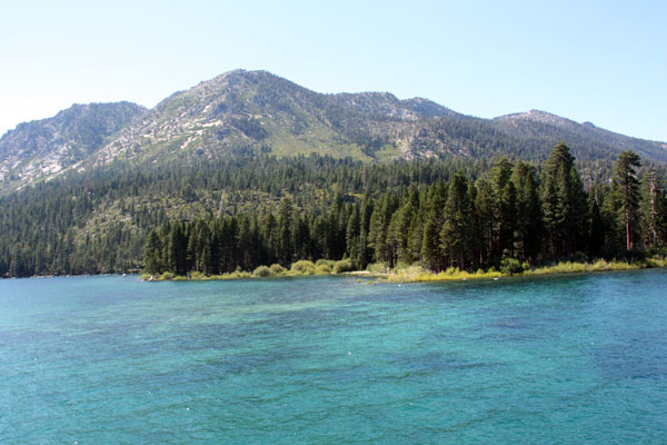The stunning waters of Lake Tahoe