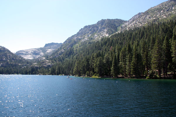 The entrance to Emerald Bay.