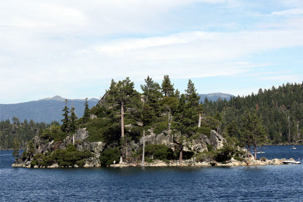 The only island in Lake Tahoe, Fannette Island