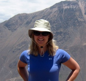 Hiking the Colca Canyon in Peru in 2009.
