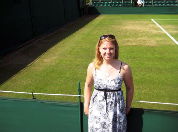 On Court 18 at Wimbledon, where Katie watched the longest tennis match in history in 2010.