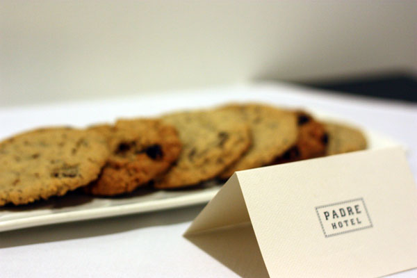 Welcome cookies at the Padre Hotel