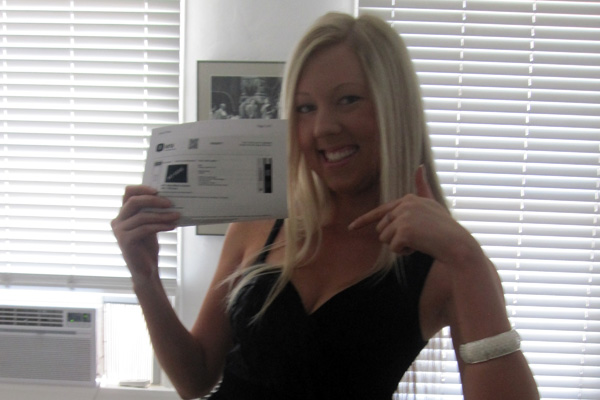 Me and my MTV VMA Ticket.