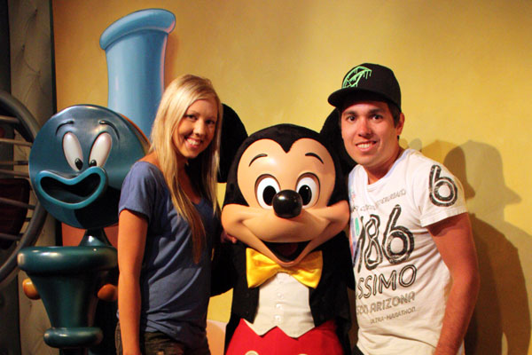 Disneyland with Mickey Mouse