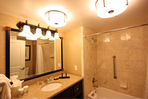 Bathroom at Embassy Suites Riverwalk