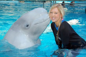 Amy and Luna the Beluga Whale