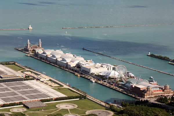 A view of Navy Pier