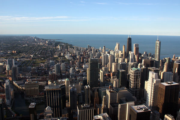 Looking north from The Skydeck Chicago