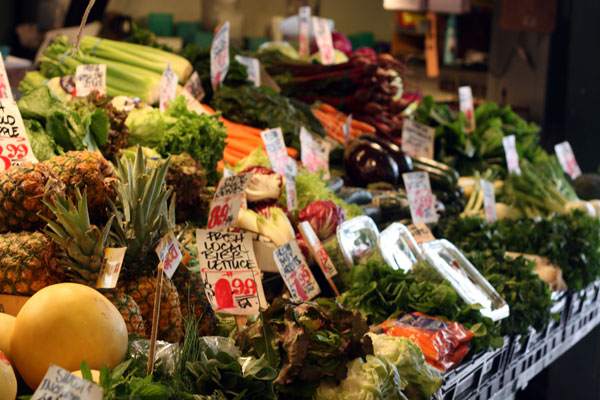 Fresh Produce for sale at Pike Place Market