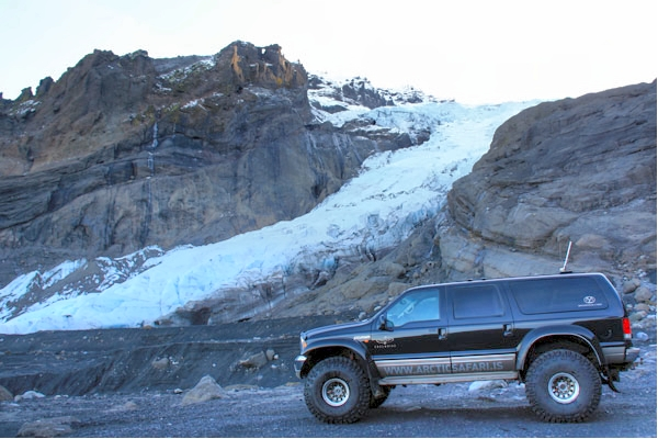 Mountain Taxi At The Base of Gigjökull Glacier