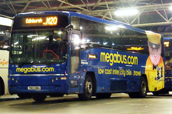 Megabus to Edinburgh