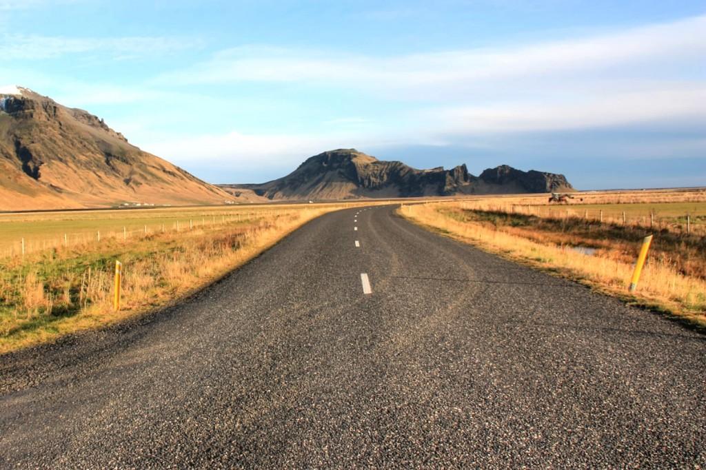 Roads near Eyjafjallajökull