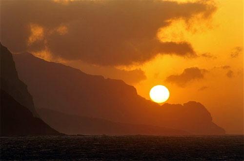 Sunset at Santa Antao.