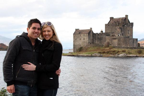 The two of us in front of Eilean Donan Castle