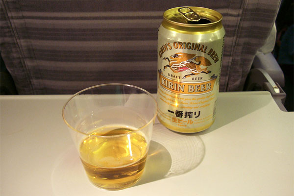 Beer on plane