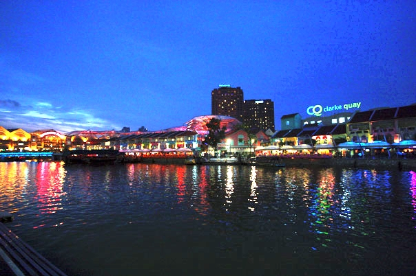 Clarke Quay Singapore At Night