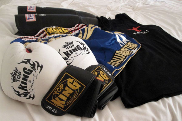Muay Thai Equipment - Gloves, Shorts, Singlet and Shin Guards