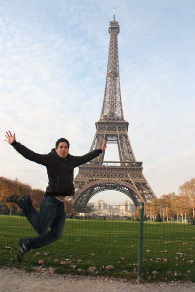 Eiffel Tower Jumping Photo