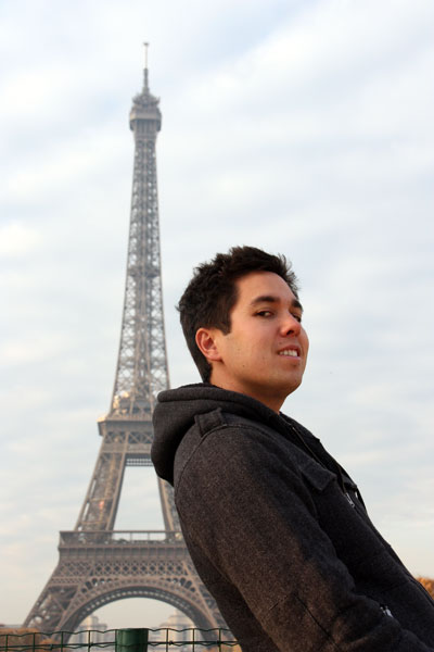 Leaning on the Eiffel Tower