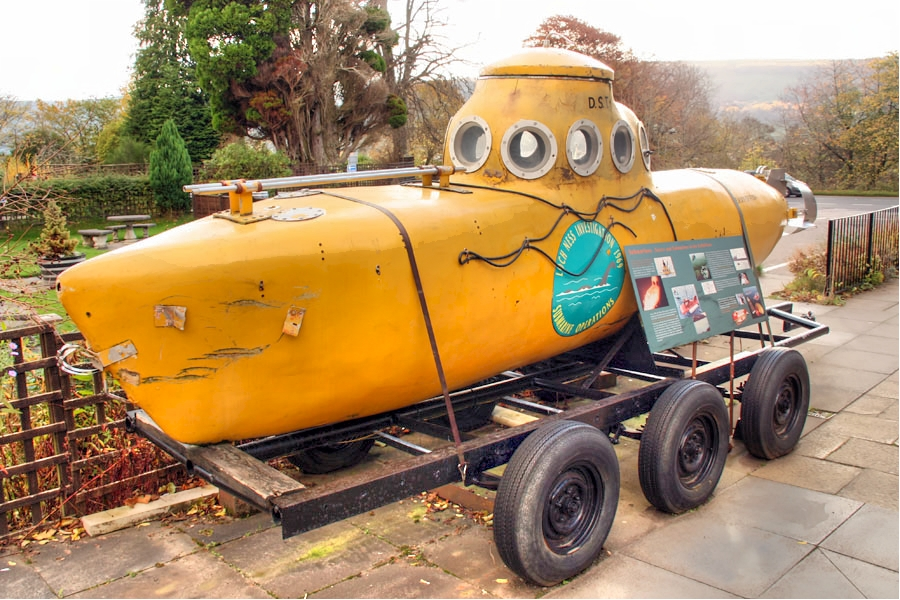 Submarine used in the search for the Loch Ness Monster