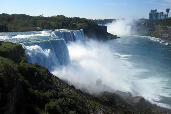 Views of the American Falls from the Observation Tower