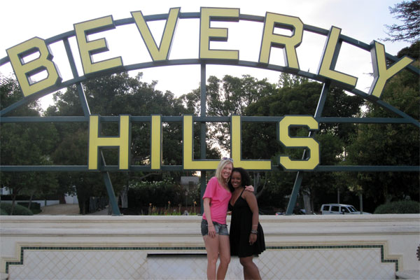Amy and Sheryll in Beverly Hills