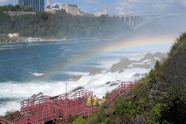 Pretty Rainbow at the base of Bridal Veil Falls