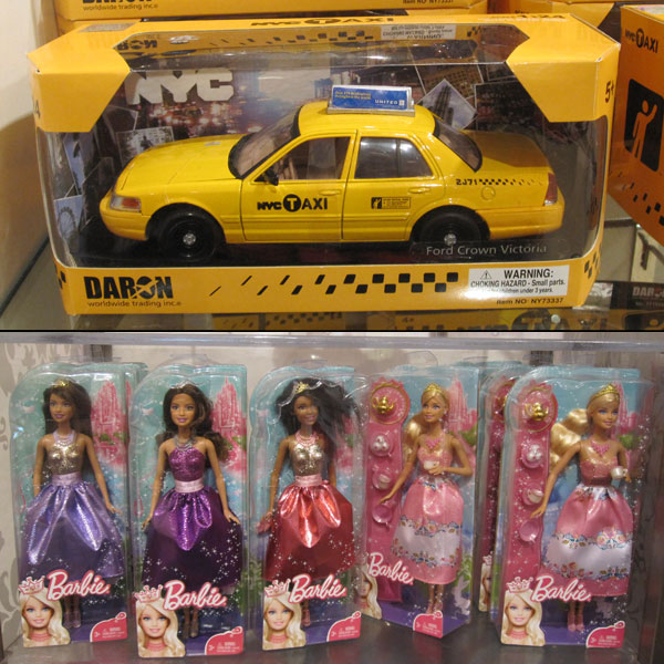 NYC Taxi and Barbies at FAO Schwarz