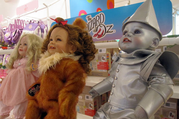 Wizard of Oz Dolls at FAO Schwarz