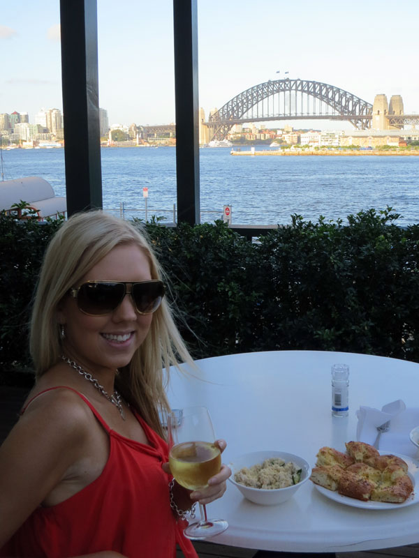 Dinner overlooking the Sydney Harbour Bridge