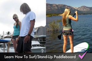 Learn how to surf and/or go stand-up paddleboarding