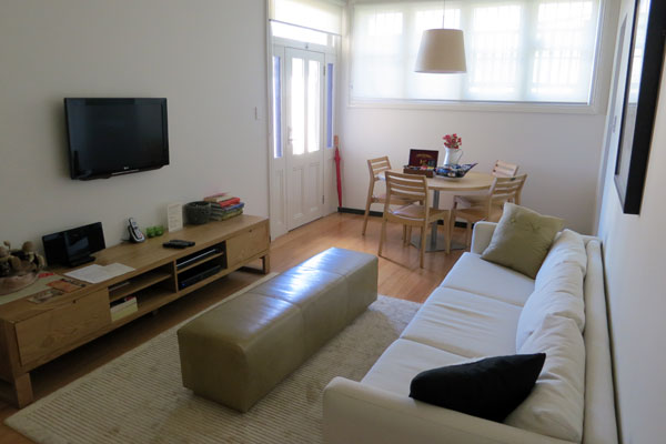 Lounge Room at Balmain Wharf Apartments