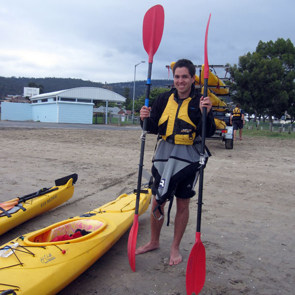 Ready to go kayaking!